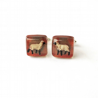Sheep Cufflinks - Free UK Postage - SALE (2209)
