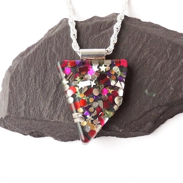 Spangles Necklace, Abstract Shape, SECONDS - 1501a