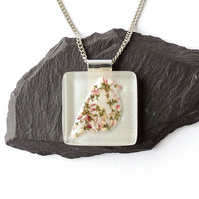 Flower Bird Resin Necklace - 801