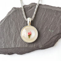 Little Pink Flower Necklace - 171a