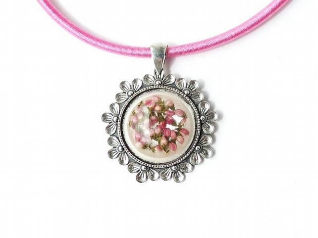 Pink Flower Necklace - 299
