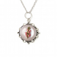 Pink & Purple Flower Necklace - F016
