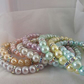 Ladies Pastel Glass Beaded Stretch Bracelet