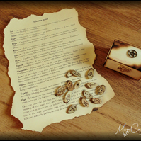 Witches Runes with wooden box and meaning guide - totally handmade
