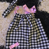 Handmade ribbon tie dress