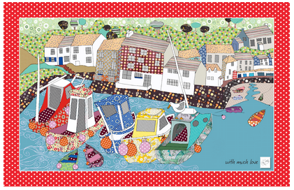 Tea Towel - Harbour design - By the Harbour Wall