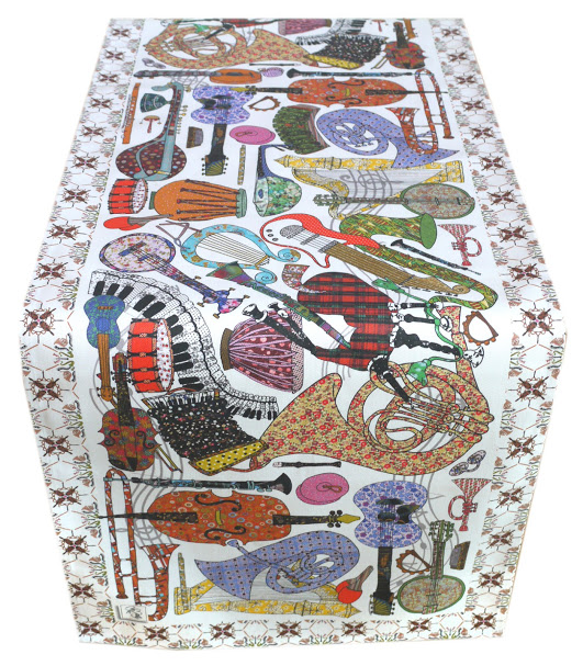 Table Runner - Musical Instrument - Table top runner - we call 'Play On'