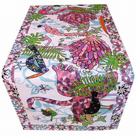 Table Runner - Flamingo design - Tickled Pink