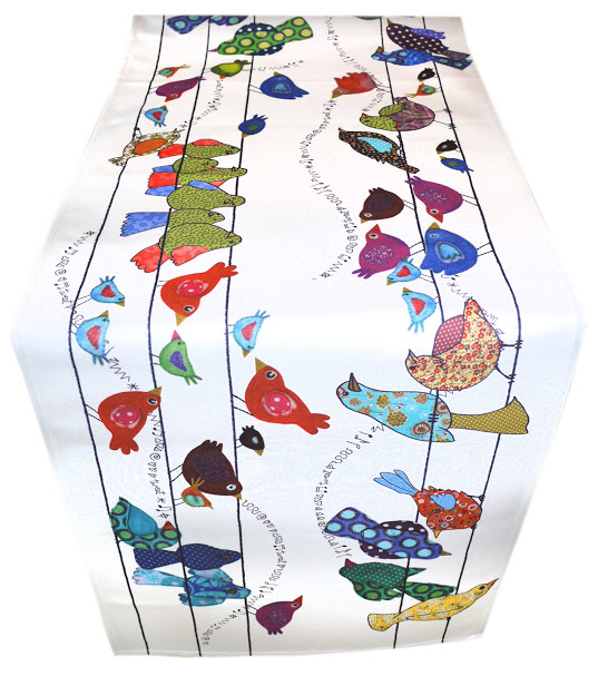 Table Runner - Bird design - Bird on a Wire