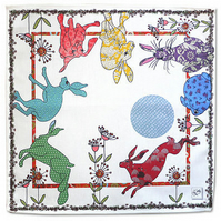 Napkins - Hares - A flick of hares