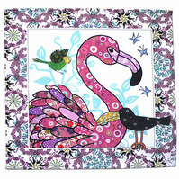 Napkins - Flamingo design - Set of 2 large napkins - ON SALE