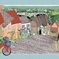 Tea towel - Village Life Cotton kitchen towel celebration village life