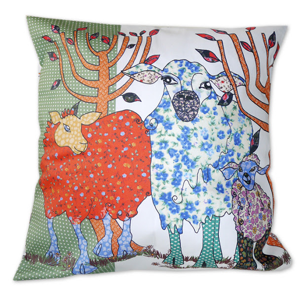 Cushions - Sheep - Three Bags Full
