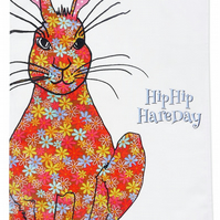 Tea towel - Hare, Hip Hip Hare Day