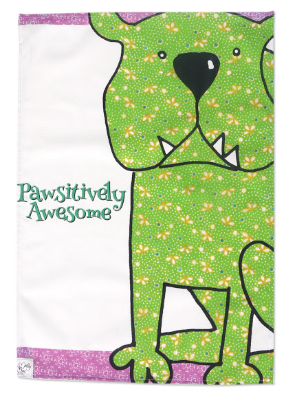 Dog Tea towel - Kitchen towel to thank the dog lovers - Pawsitively Awesome