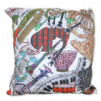 Cushion Cover - Musical Instruments - Play On