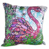 SALE Cushion Cover - Flamingo - Tickled Pink