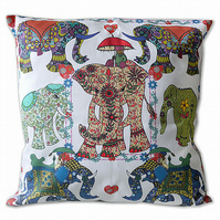 Cushion Cover - Elephant Parade