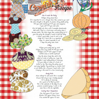 Kitchen towel - Recipe tea towel - Cornish Pasty Recipe