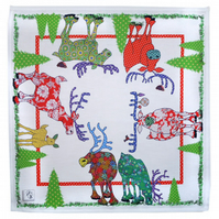 Cotton Napkins - Reindeer Cheer, Each pack is a set of two.