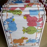 Cow Table Runner, printed cotton drill to make your table lovely in seconds.