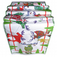 Reindeer Table Runner. Christmas table runner for your festive table. Printed