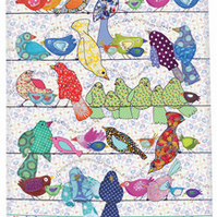 Tea Towel - Bird design - We call 'Bird on a wire' - Cotton kitchen towel