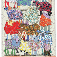 Tea Towel - Sheep dish towel - We call 'Three Bags Full' Cotton tea towel