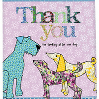Thank you for looking after my dog tea towel - cotton kitchen towel