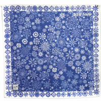 Cotton Napkins - Blue snow, Each pack is a set of two.