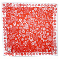 Cotton Napkins - Red snow, Each pack is a set of two.