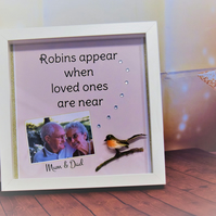 PERSONALISED Photo Robins Appear When Loved Ones Are Near Frame
