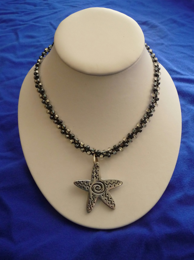 Sea Star Shaped Charm Necklace