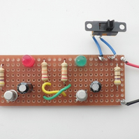 Kit 12: Alternately Flashing L.E.D.s Using Transistors