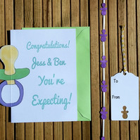 Congratulations Card & Tag, New Baby Card & Tag, New Arrival Card