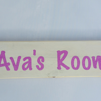 Bedroom Door Sign