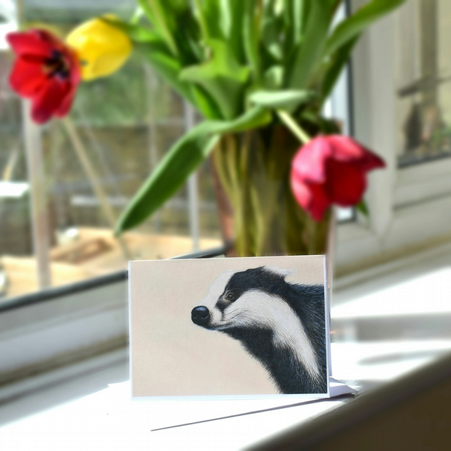 A6 Badger Greetings Card