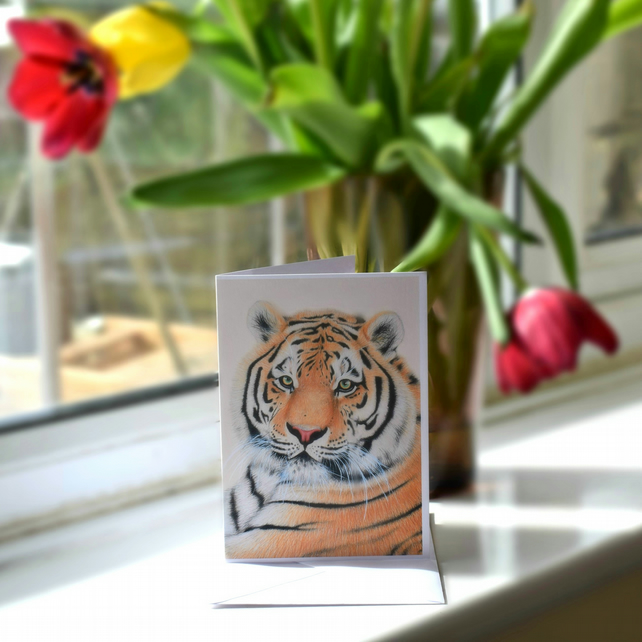 A6 Tiger Greetings Card
