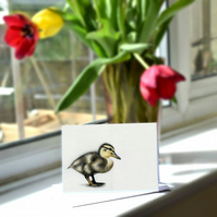 A6 Duckling Greetings Card