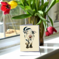 A6 Muddy Piglet Greetings Card