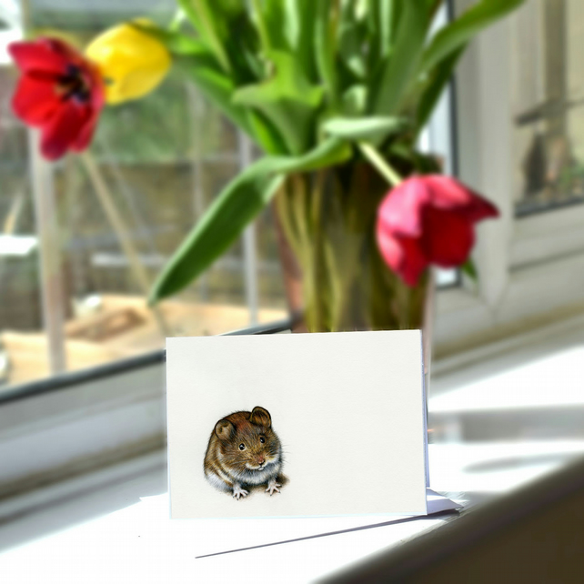 A6 Mouse Greetings Card