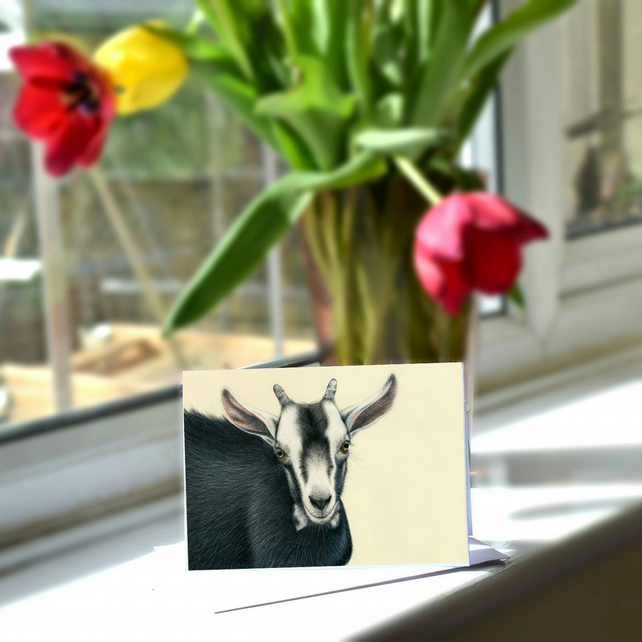 A6 Goat Greetings Card