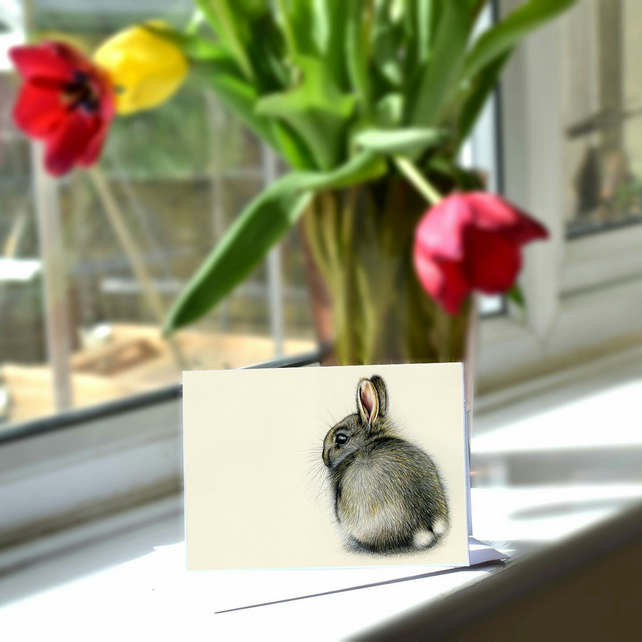 A6 Rabbit Greetings Card