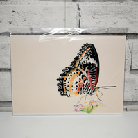 A5 Handmade Leopard Lacewing Butterfly Notebook