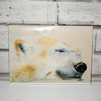 A5 Handmade Polar Bear Notebook
