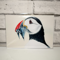 A5 Handmade Puffin Notebook
