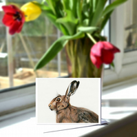 A6 Hare Greetings Card