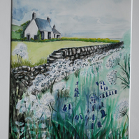 Watercolour painting: Wayside Wall