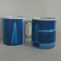 London Icons Collection set of two mugs