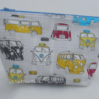 VW Campervans  -Zipped Waterproof Pouch